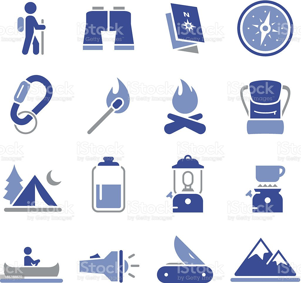 Camping Icons - Pro Series vector art illustration