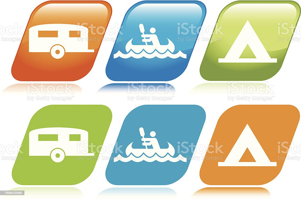 Camping Icons royalty-free stock vector art