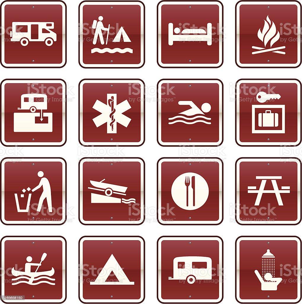 Camping Icons royalty-free stock vector art