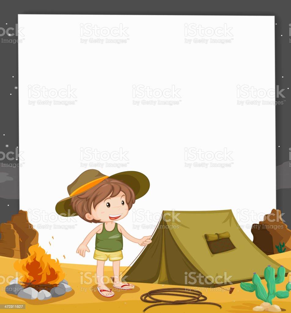 Camping kid royalty-free stock vector art