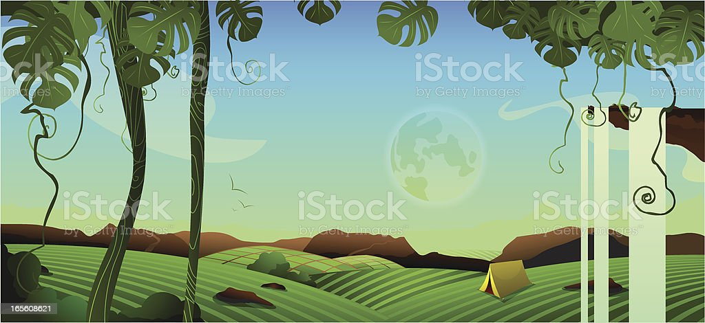 Camping Landscape royalty-free stock vector art