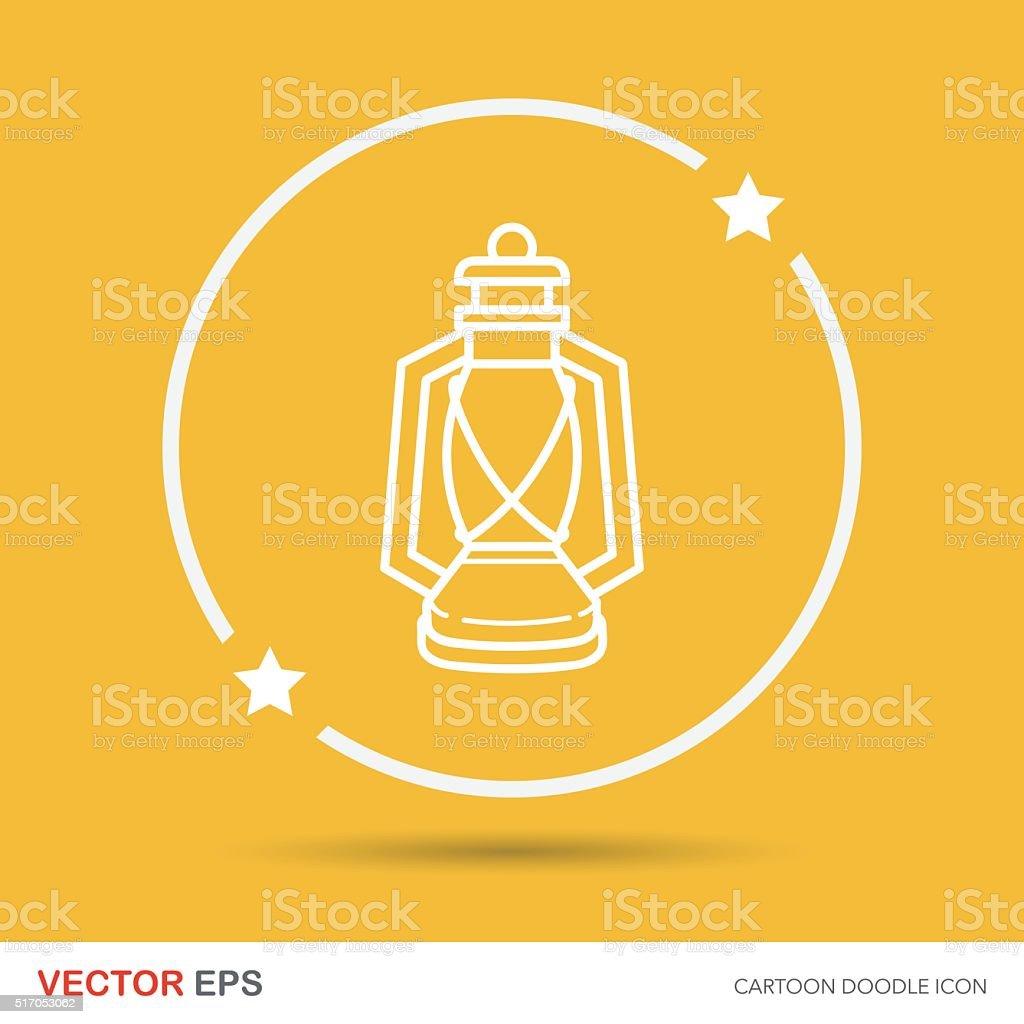 camping light icon vector art illustration
