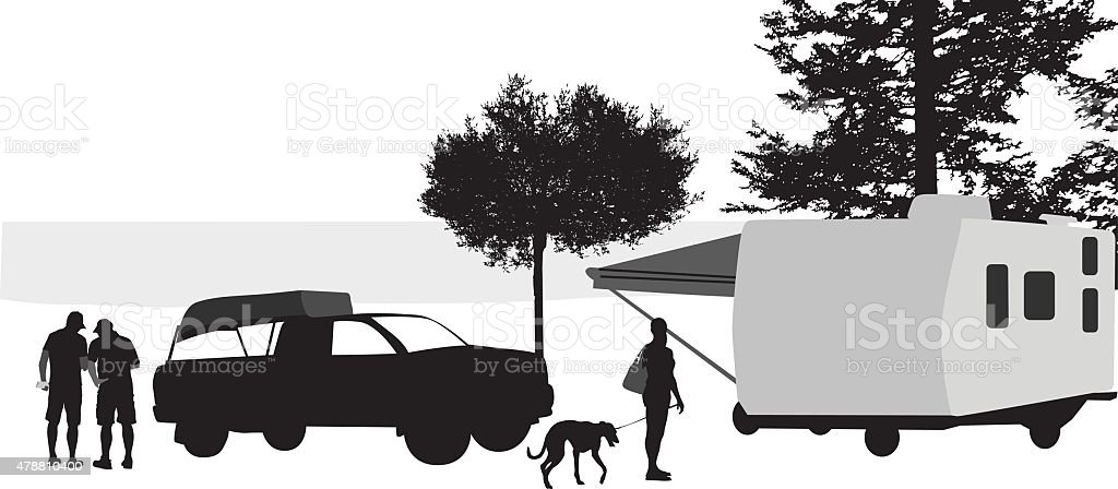 Camping More vector art illustration