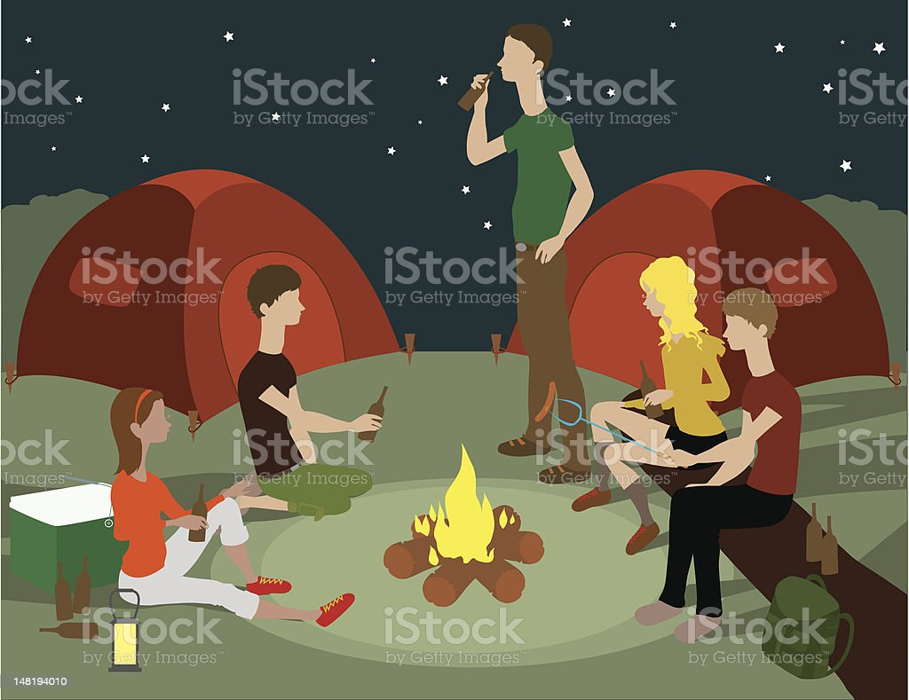 Camping Party royalty-free stock vector art