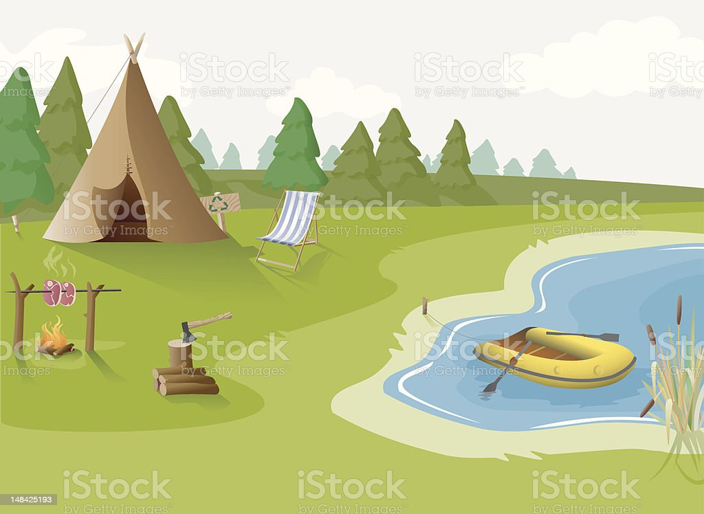 Camping royalty-free stock vector art