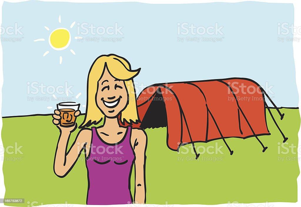 Camping vector art illustration