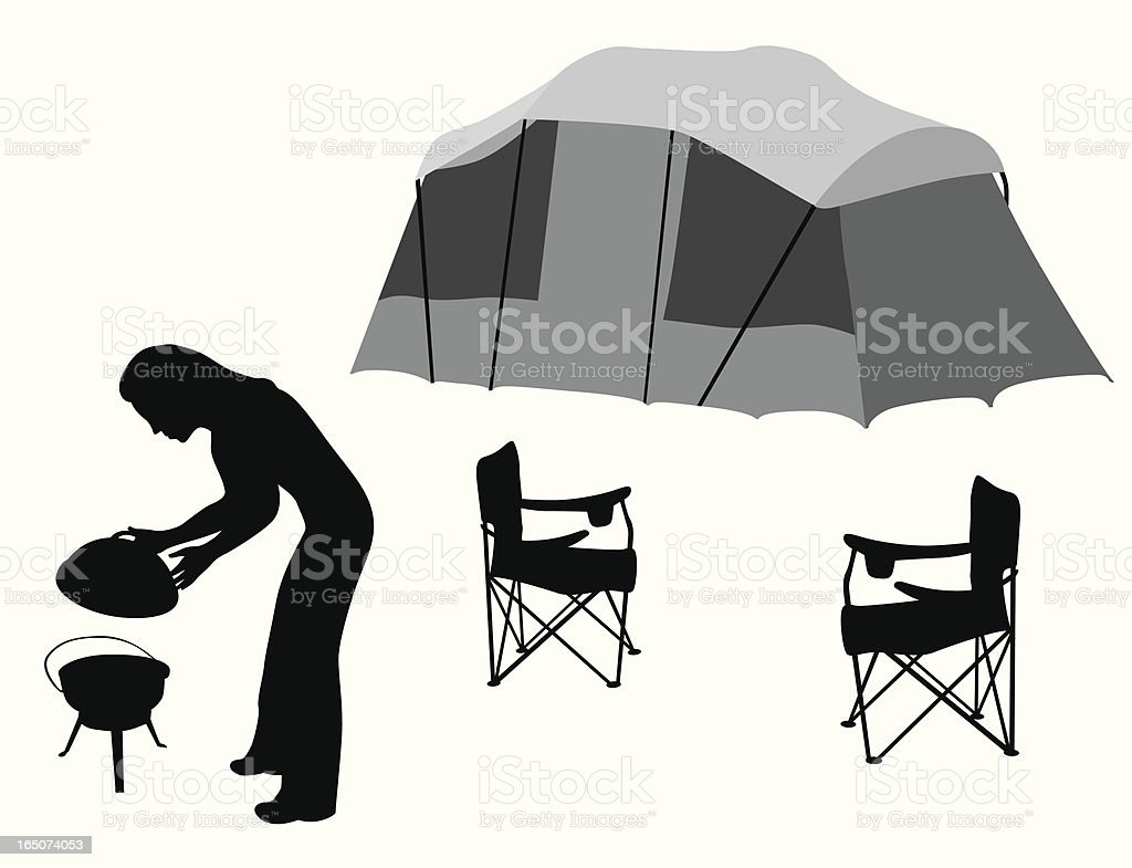 Camping  Vector Silhouette royalty-free stock vector art