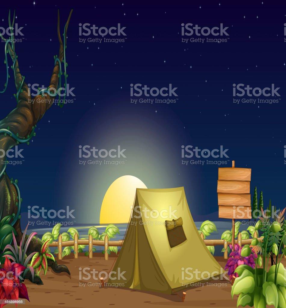 Campsite royalty-free stock vector art
