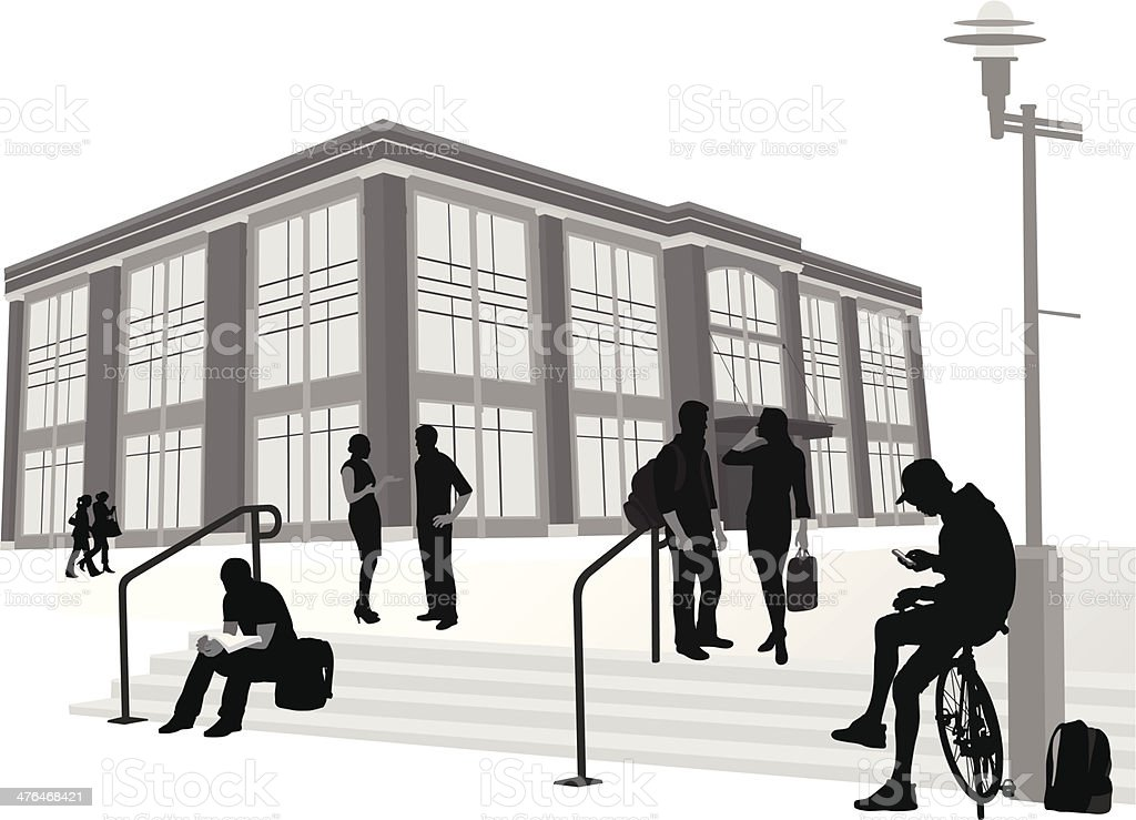 Campus Steps royalty-free stock vector art