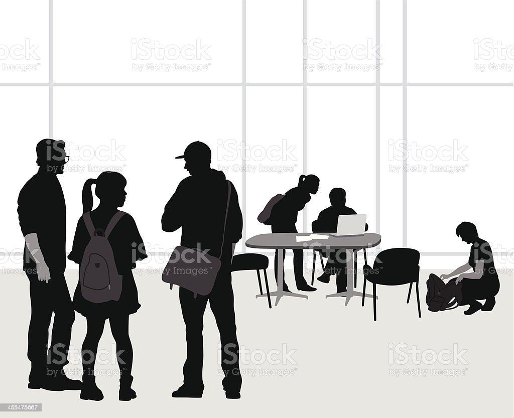 Campus Talk royalty-free stock vector art
