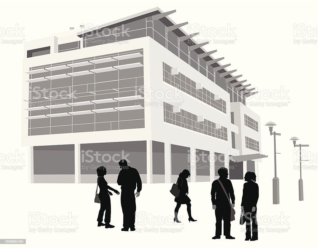 Campus Vector Silhouette royalty-free stock vector art