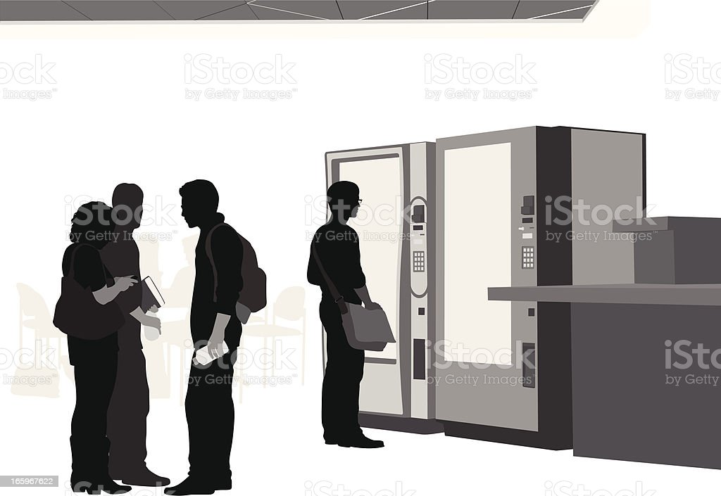 Campus Vending Vector Silhouette vector art illustration
