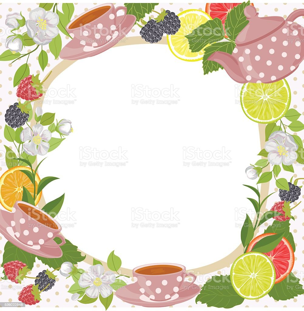 Can be used as invitation, menu, label. vector art illustration