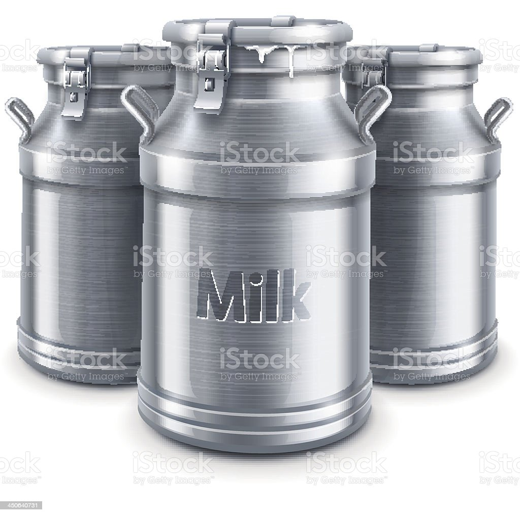 can containers for milk isolated vector royalty-free stock vector art