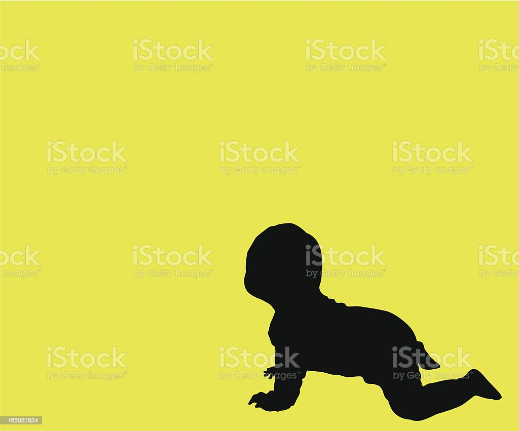 I can crawl!     ( Vector ) royalty-free stock vector art