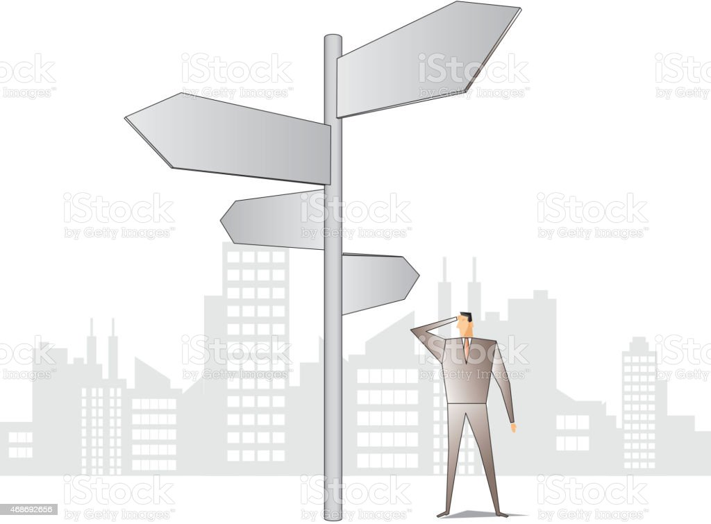 Can not find direction vector art illustration