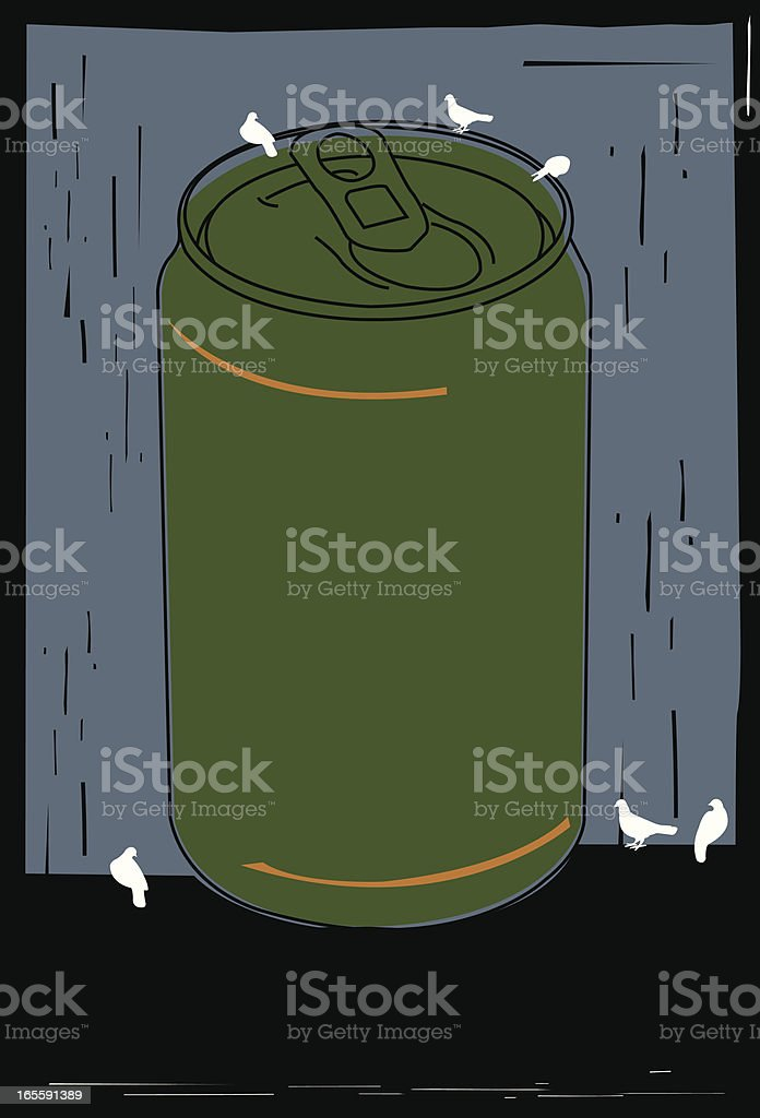 Can of drink vector art illustration