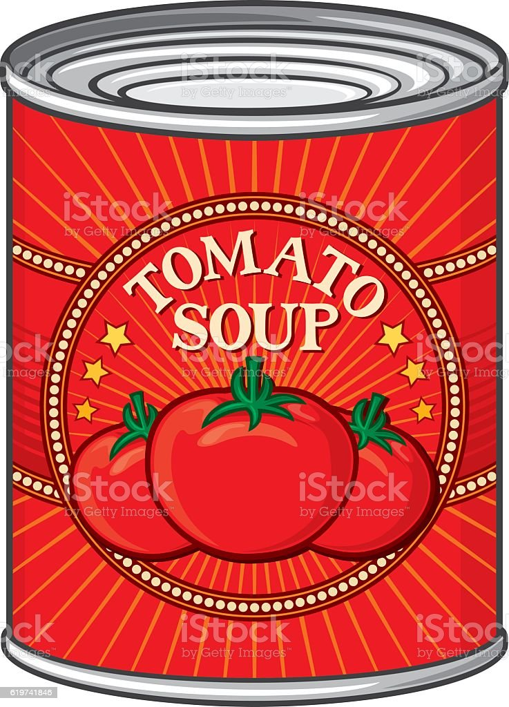 can of tomato soup (tin) vector art illustration
