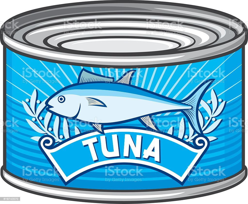 can of tuna vector art illustration