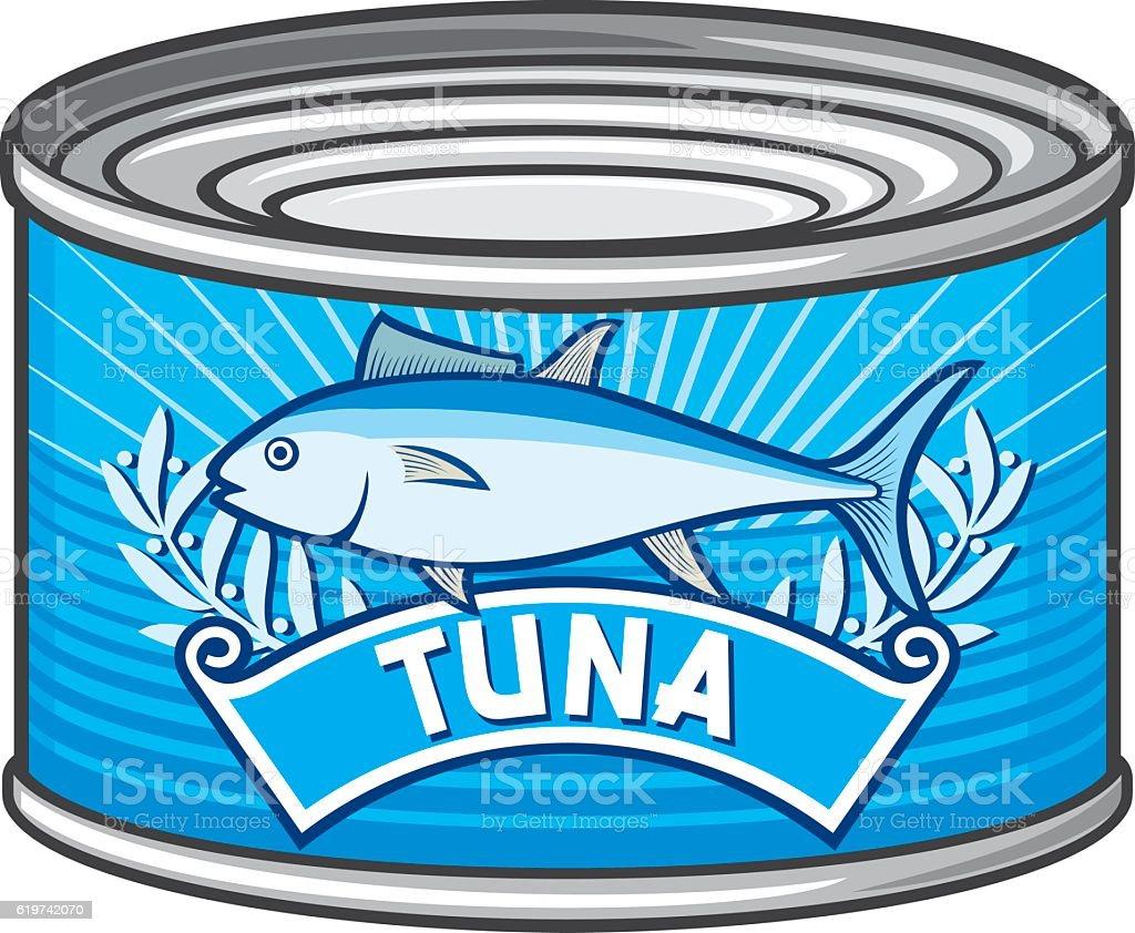 can of tuna vector art illustration