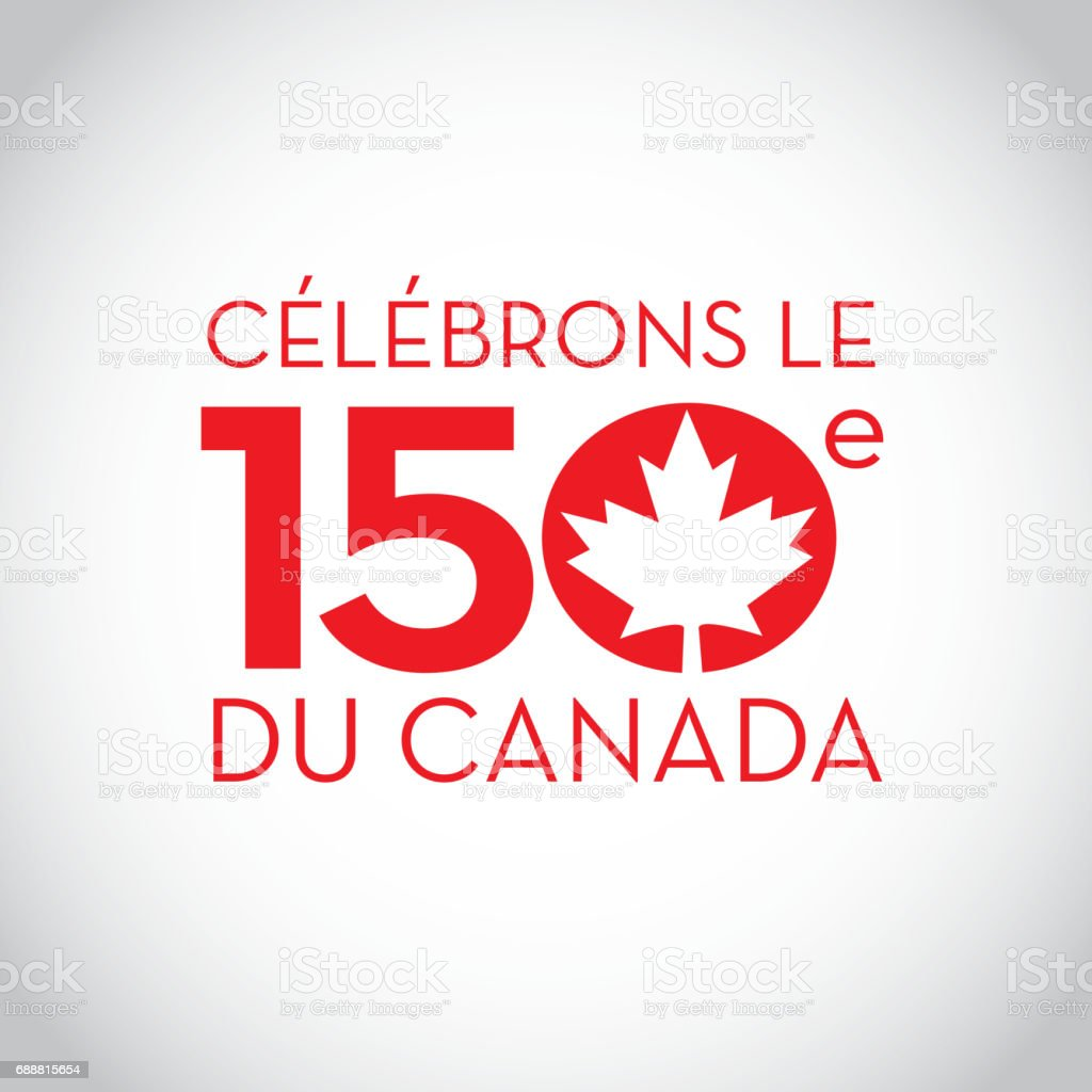 Canada 150 year anniversary label designs vector art illustration