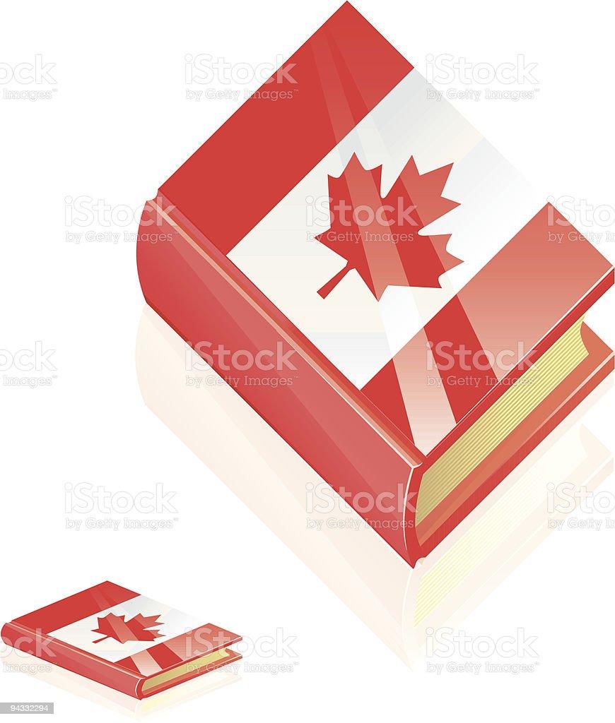 Canada Book Icon royalty-free stock vector art