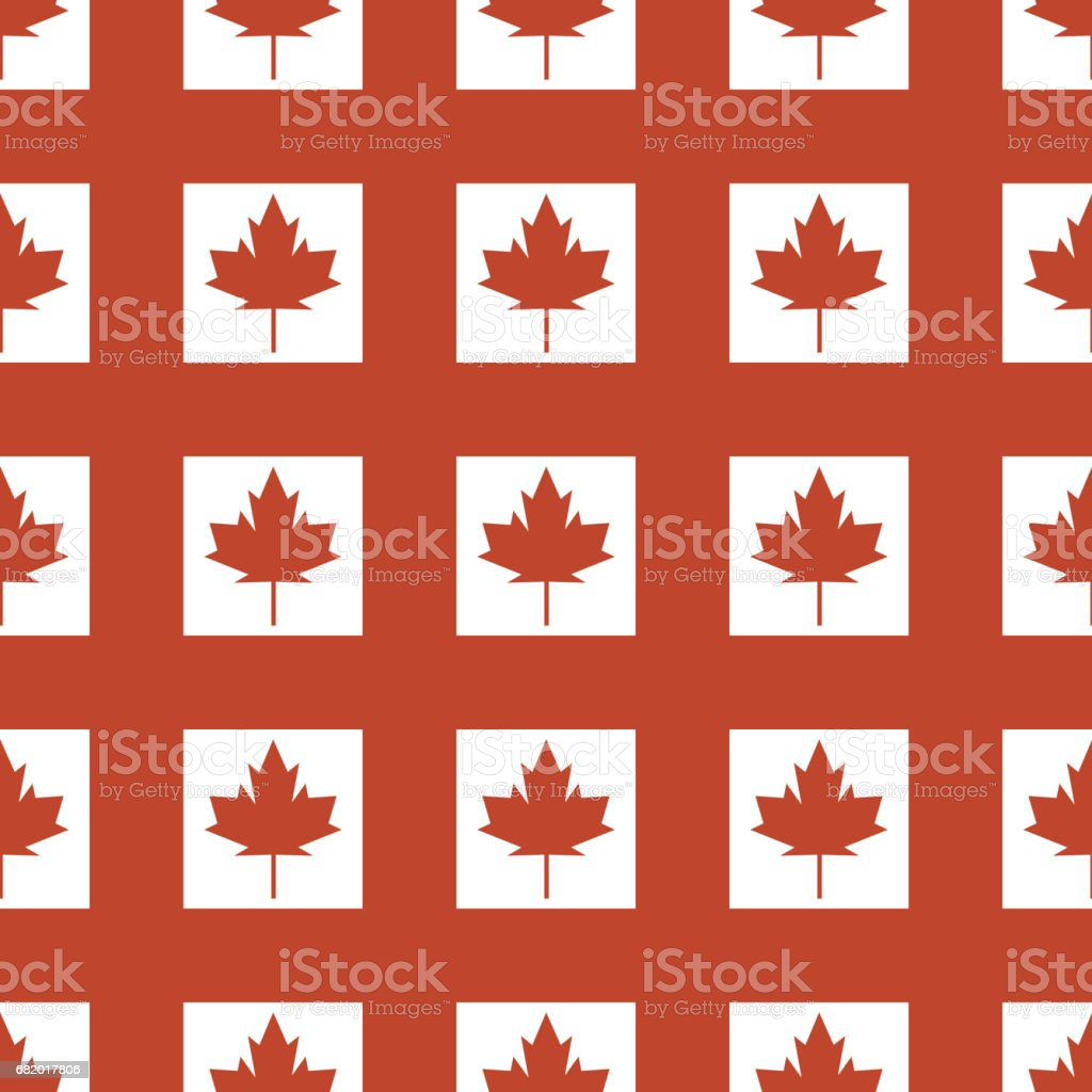 canada country flag symbol maple leaf pattern seamless canadian