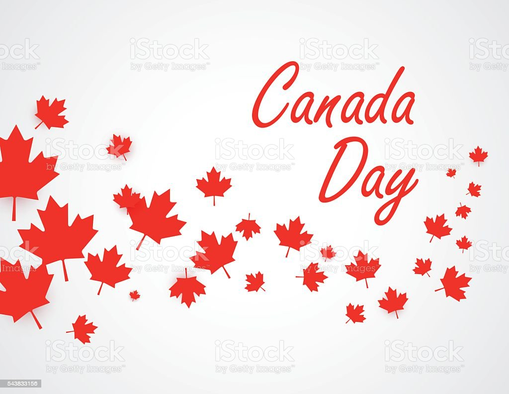 Canada Day background vector art illustration