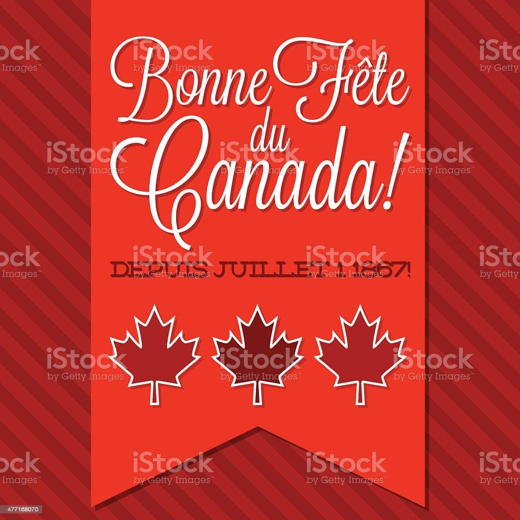 Canada Day sash card in vector format. vector art illustration