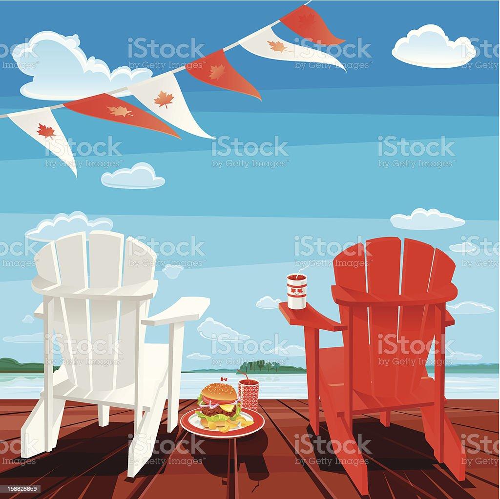 Canada Day vector art illustration