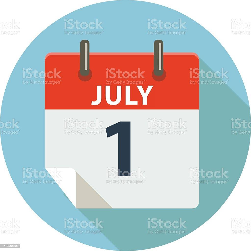JULY 1 - Canada Day vector art illustration