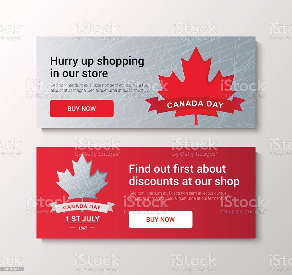 VECTOR Canada Day vector art illustration