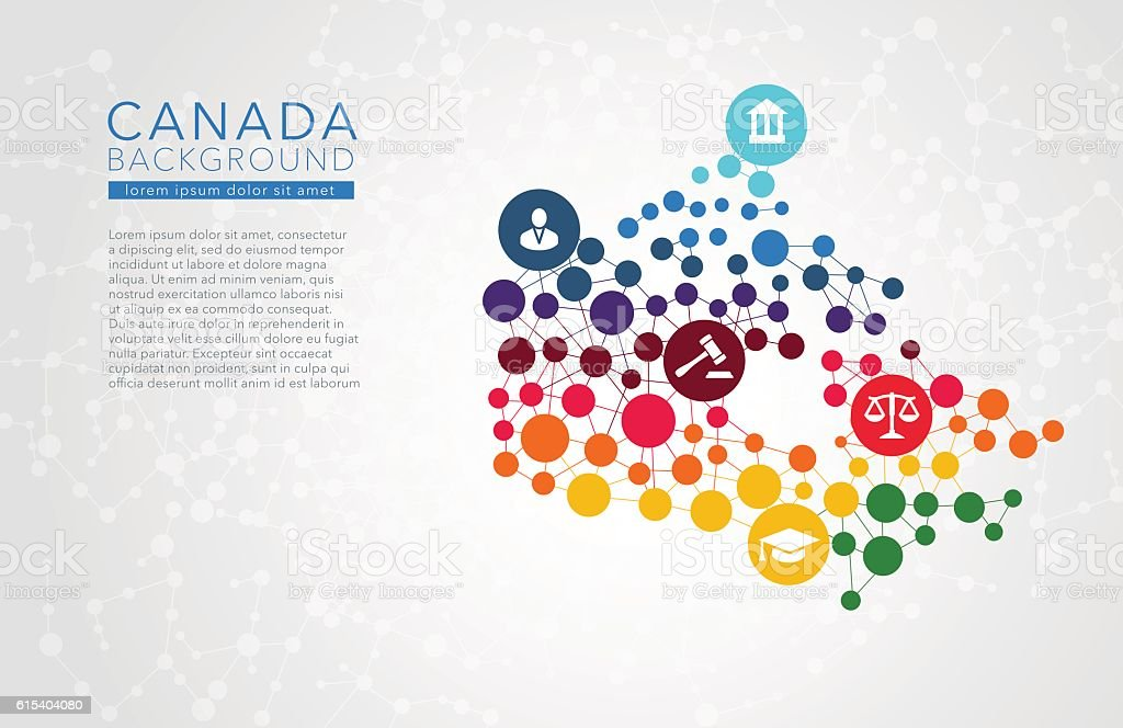 Canada dotted vector background vector art illustration