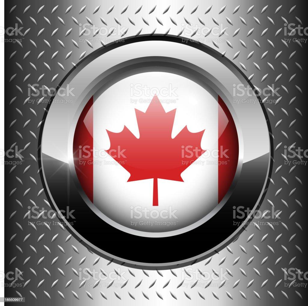Canada flag button royalty-free stock vector art