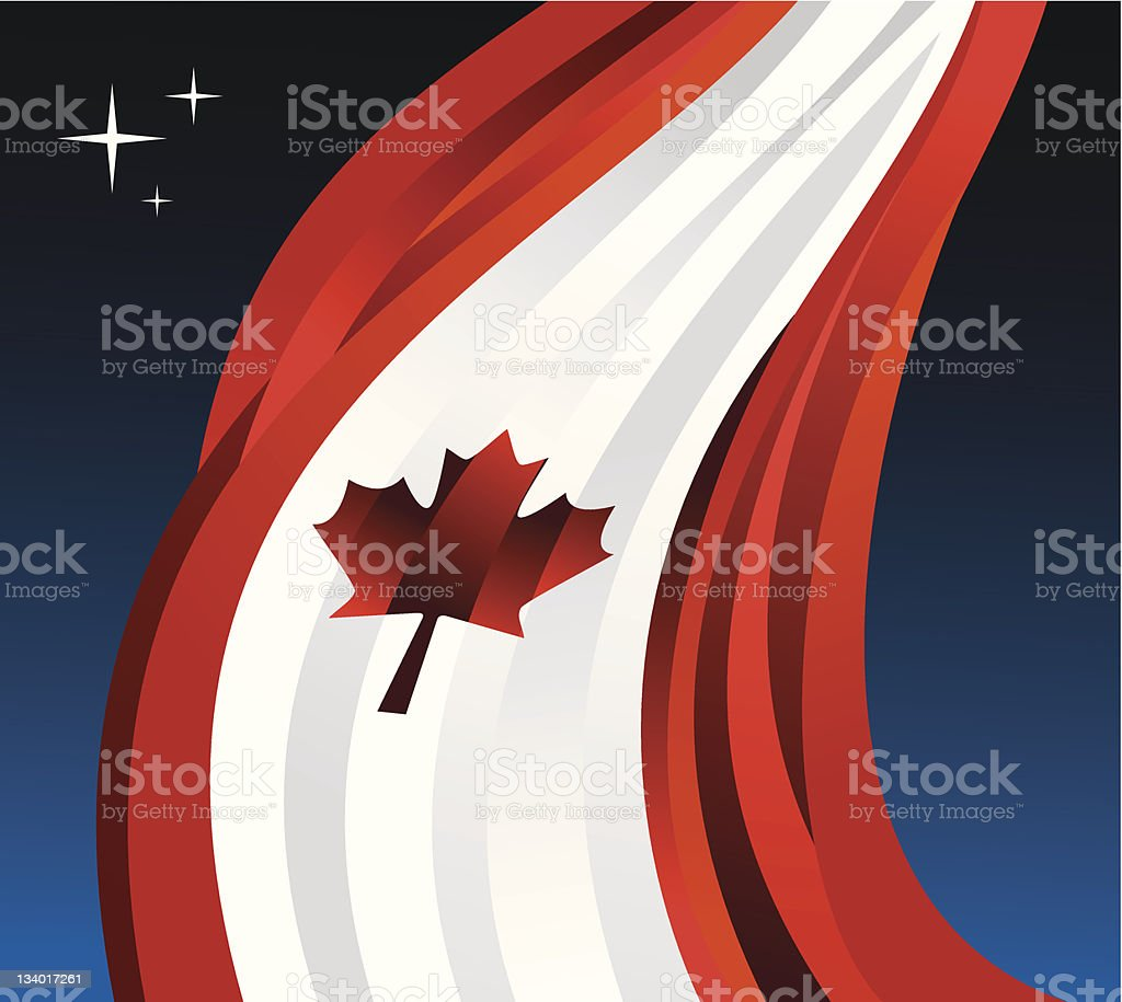 Canada flag illustration background royalty-free stock vector art