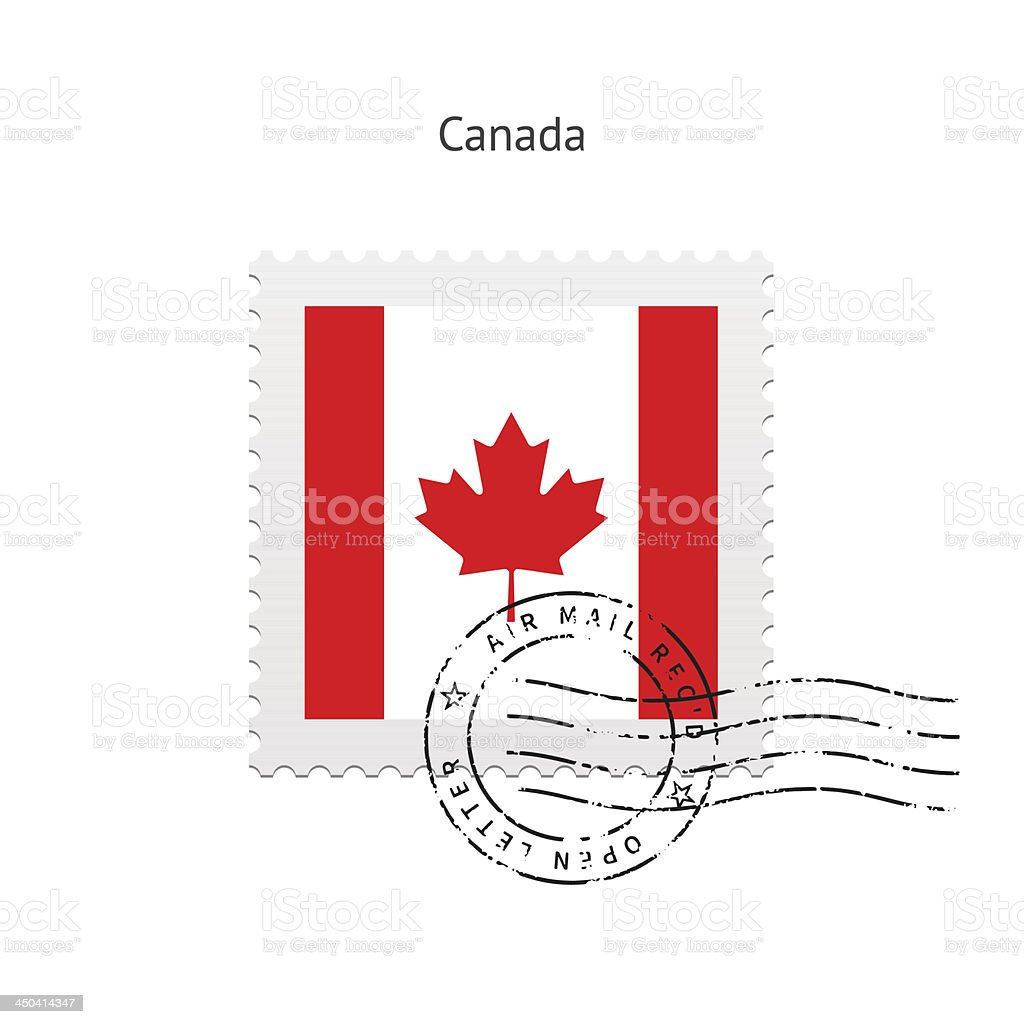 Canada Flag Postage Stamp royalty-free stock vector art
