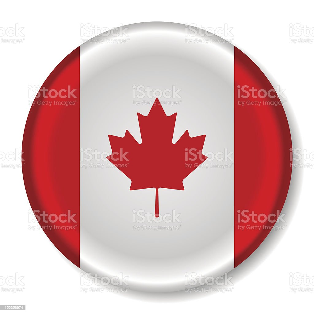 Canada Flag Round Icon royalty-free stock vector art