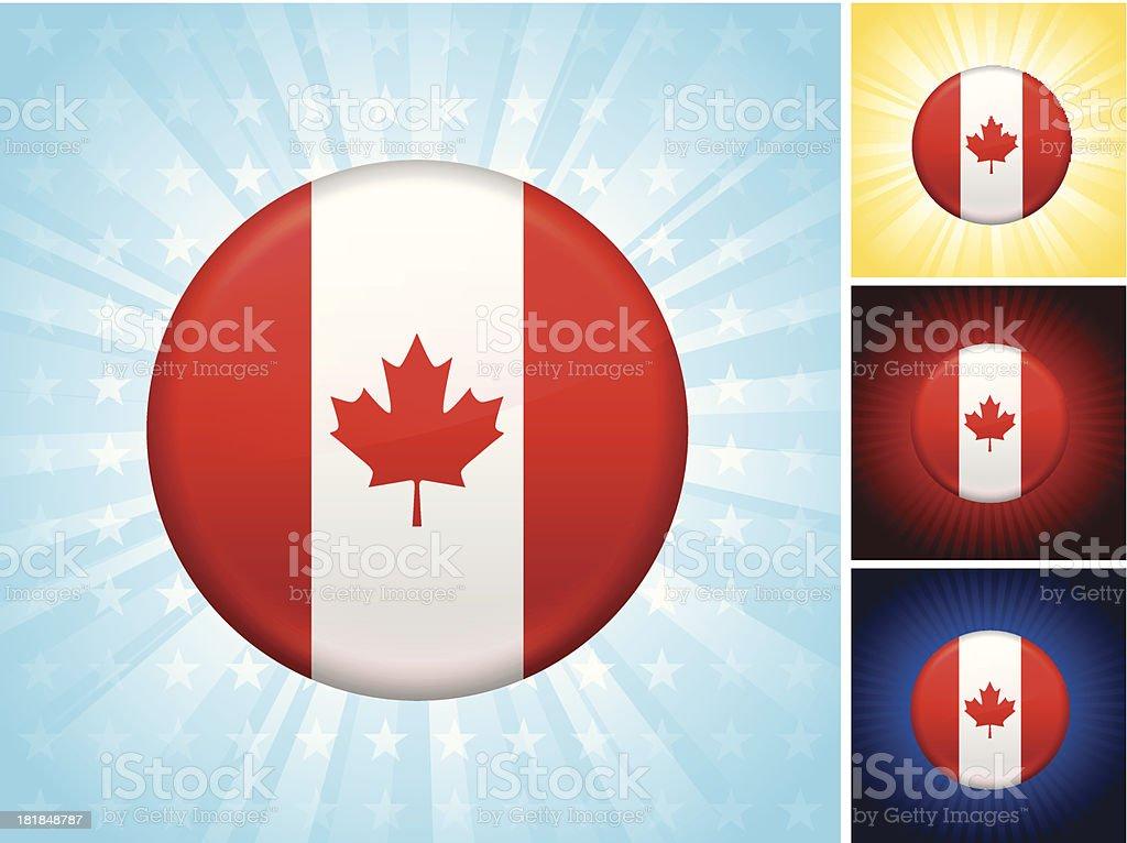 Canada Flag royalty free vector art Button Set royalty-free stock vector art