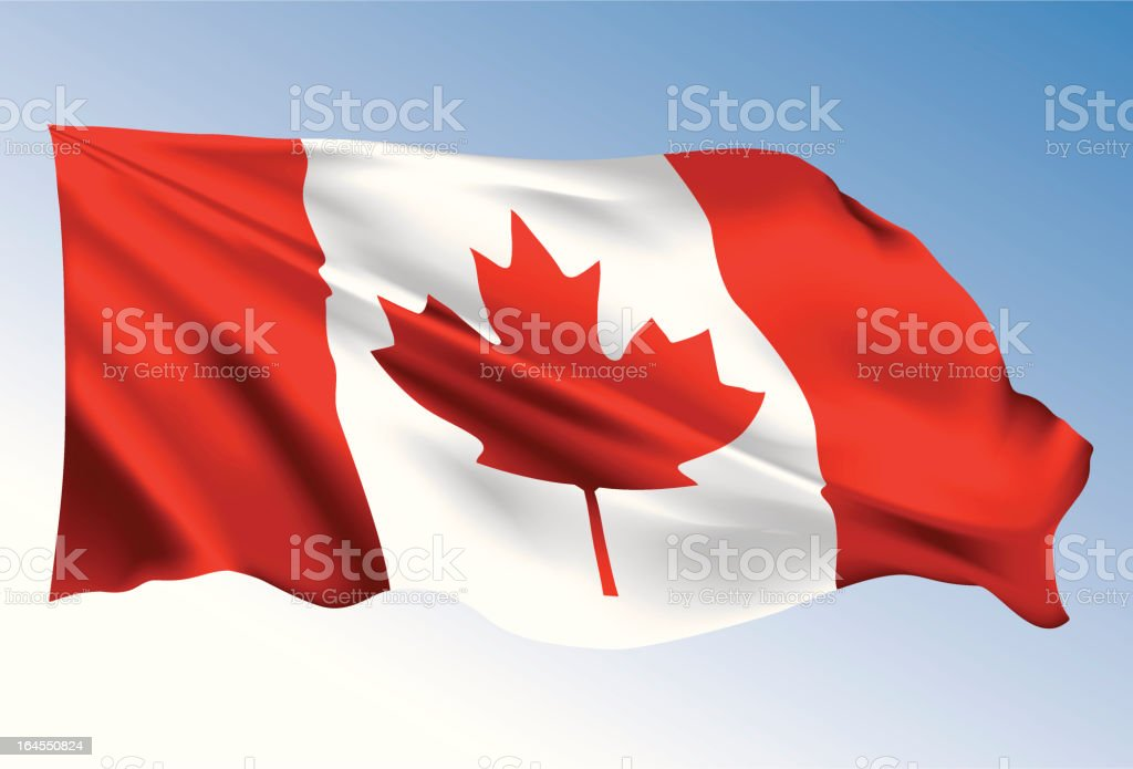 Canada Flag vector art illustration