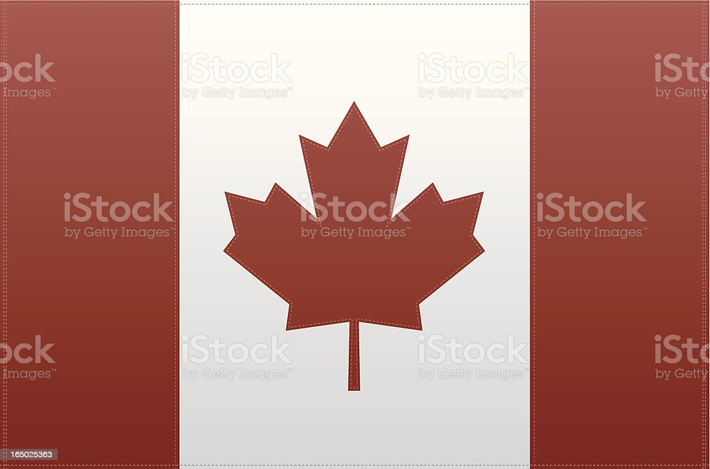 Canada Flag (Vector) royalty-free stock vector art