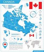Canada - infographic map - Illustration