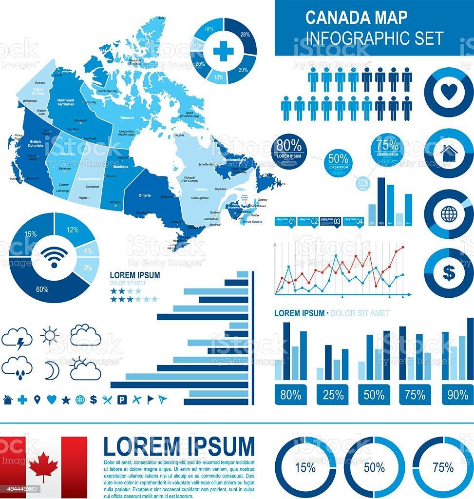 Canada Infographic map vector art illustration