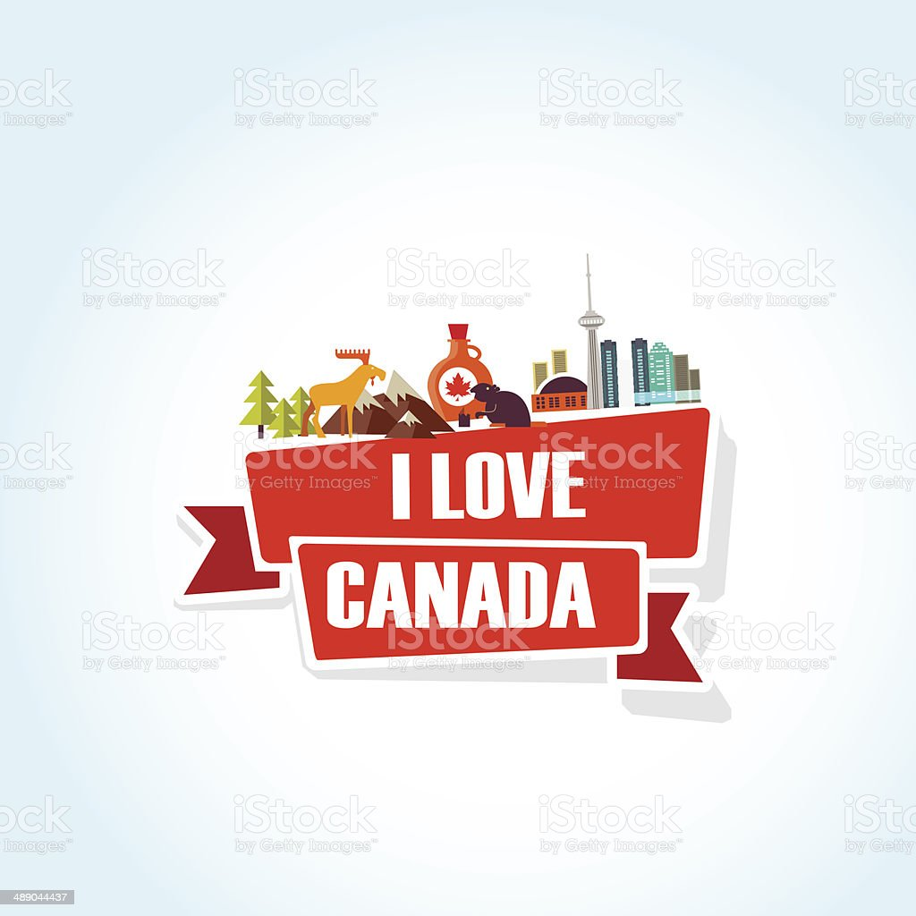 Canada love vector art illustration