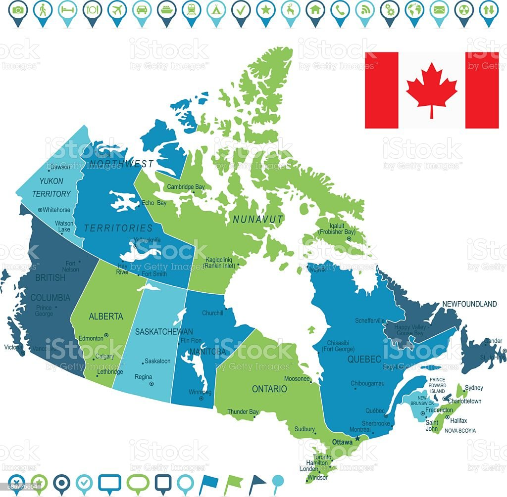Canada map and navigation icons illustracion libre de derechos canada map and navigation icons illustracion libre de derechos libre de derechos gumiabroncs Images