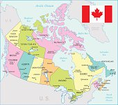 Canada Map - illustration