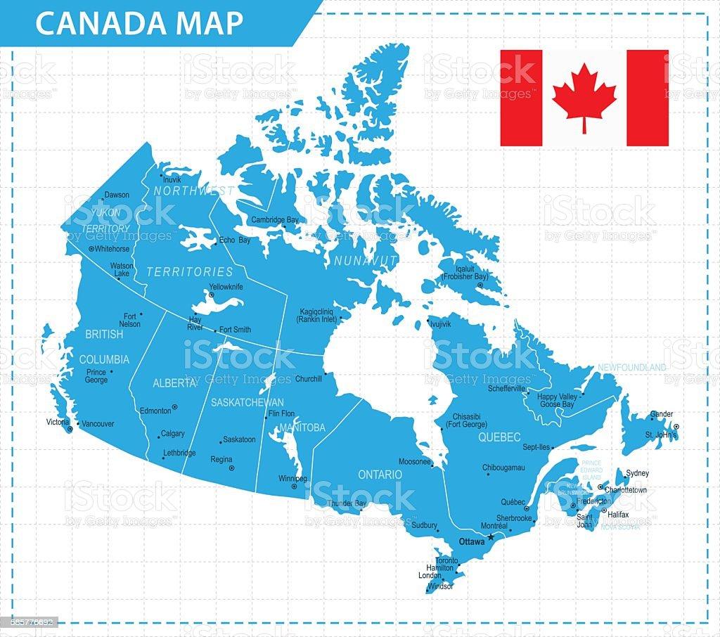 Canada Map - Illustration vector art illustration