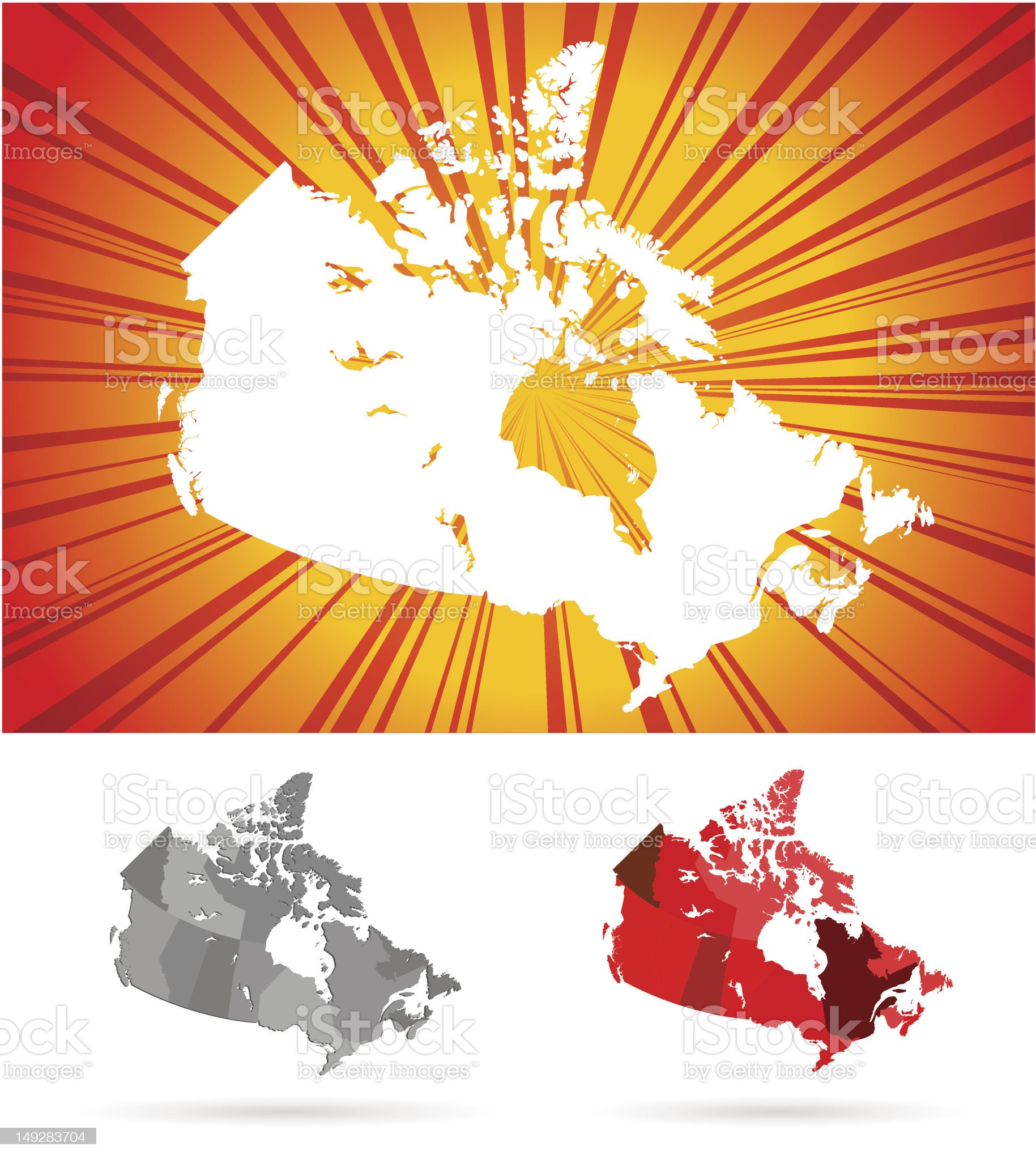 Canada map royalty-free stock vector art