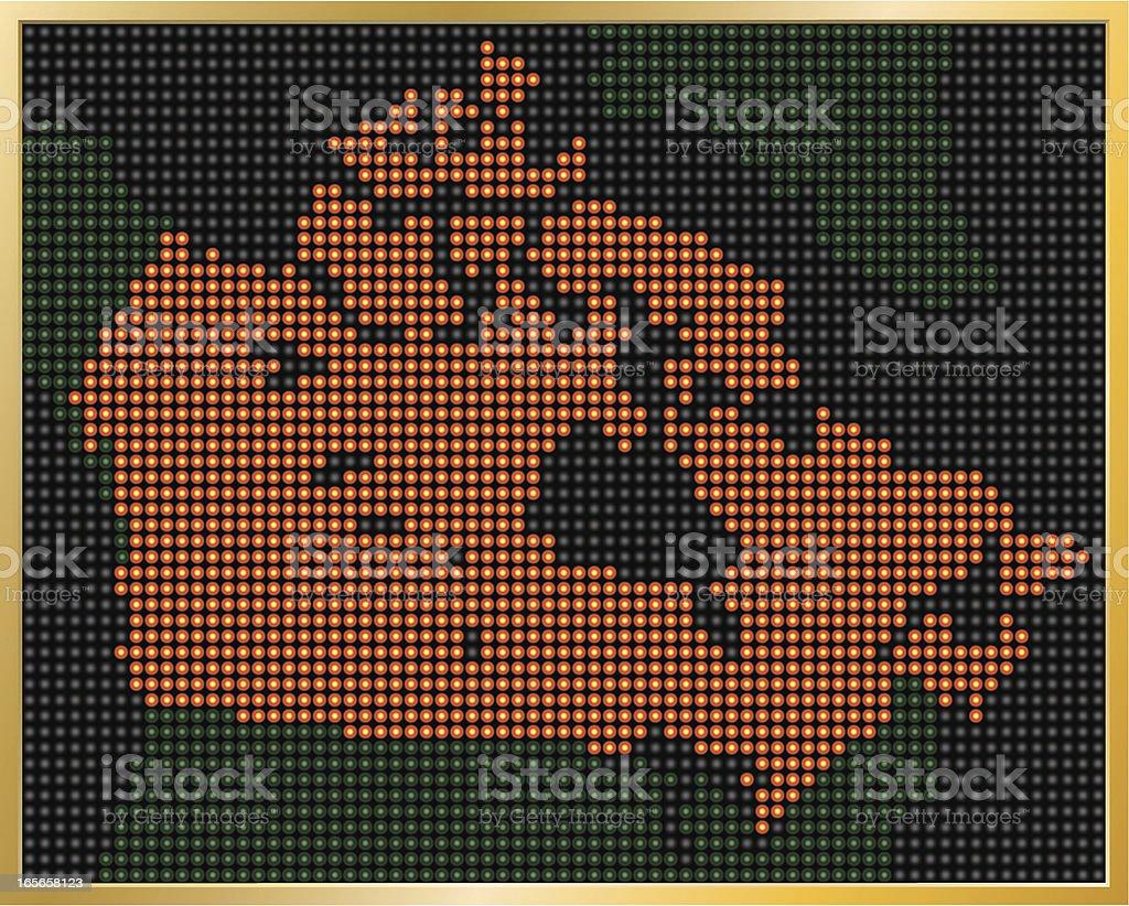 LED Canada Map royalty-free stock vector art