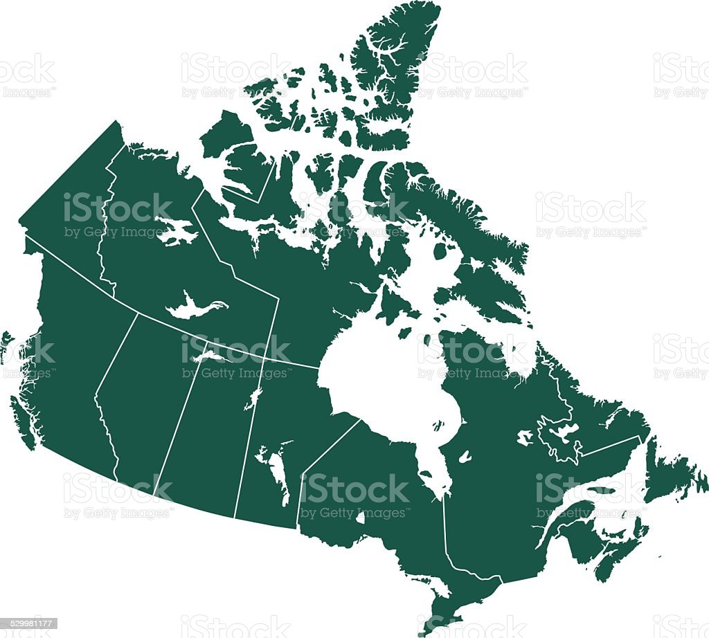 Canada map vector art illustration