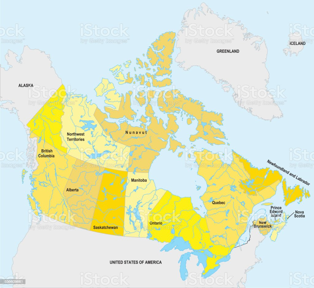 Canada Map vector art illustration